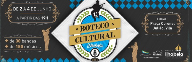 Mais de 150 músicos de Ilhabela se apresentam no Boteco Cultural no próximo final de semana